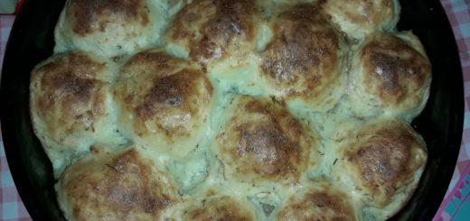 Zapečene knedle od krompira punjene mesom