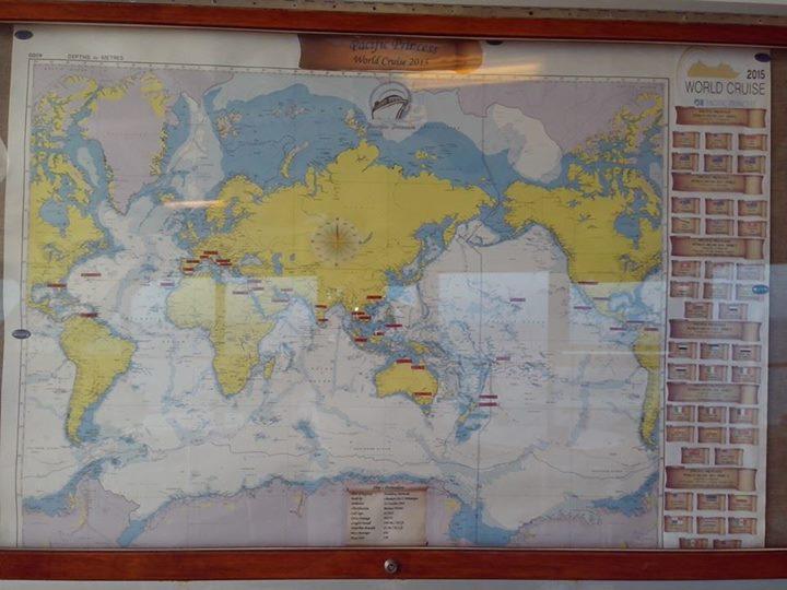Just around the world