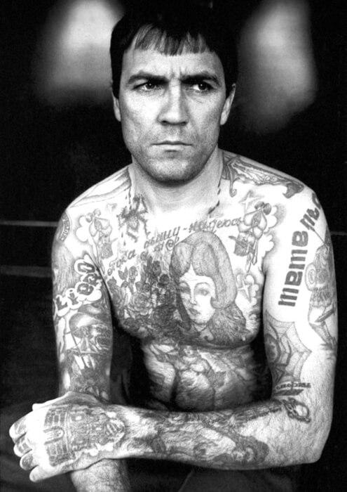 Fotografija Danciga Baldaeva - tetovaže kriminalca iz Krstova