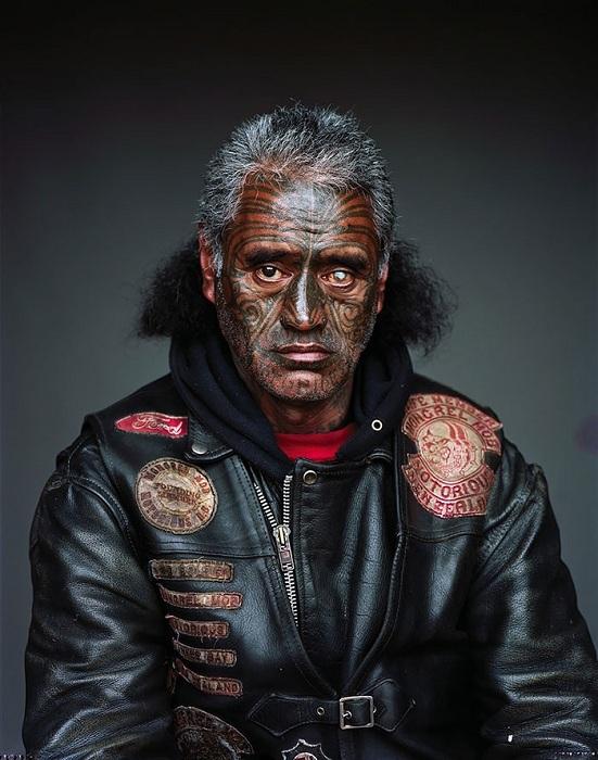Tipični predstavnik ganga Mongrel Mob s Novog Zelanda