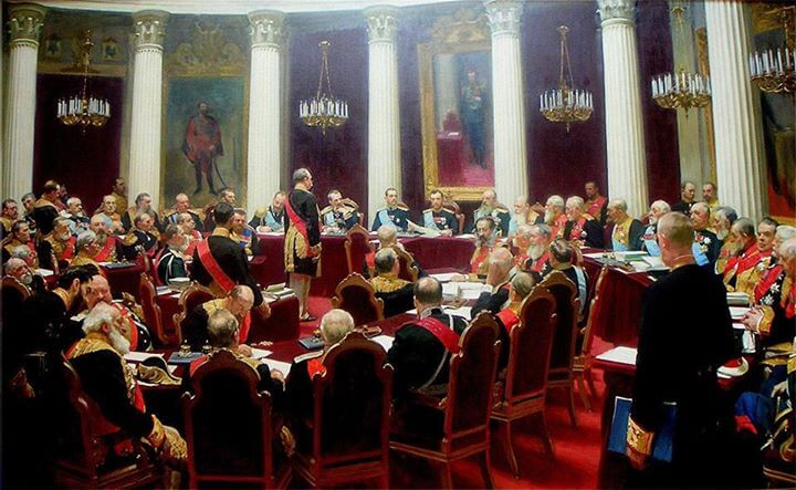 Zasedanje Rade, državnog parlamenta (Ilja Rjepin)