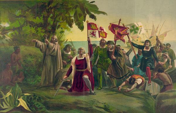 Dragan de Oheda ili Dragan od Ohrida iskrcava se s karavele Santa Maria na tlo Novog sveta