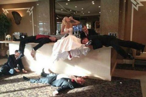 Venčanice - kad mlada poludi: Mlada najbolje podnosi piće