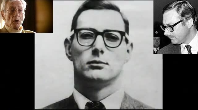 Brus Rejnolds u raznim periodima života u vreme Velike pljačke voza 1963. (sredina), u poslednjem periodu života (levo) i u vreme suđenja (desno)