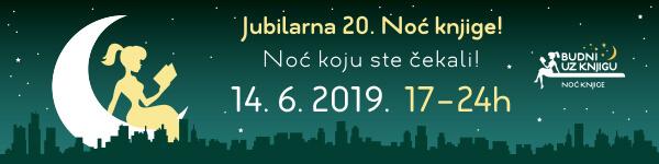 Jubilarna 20. Noć knjige – 14. juna od 17 sati do ponoći!