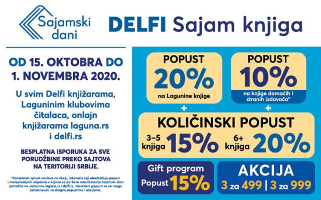 Delfi Sajam knjiga od 15. oktobra do 1. novembra