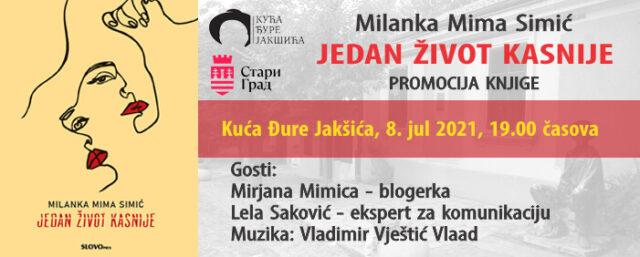 """""""Jedan život kasnije"""" Milanke Mime Simić – promocija"""